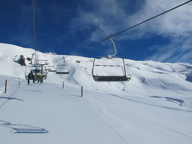 Saddle Basin chairlift - Treble Cone, Wanaka NZ (16.9.2014)