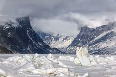 Iconic Pang Pass (MichaelHD ( michaelhdavies.com )) Tags: ocean mountain snow clouds michael nikon arctic h nikkor davies pangnirtung d300 damniwishidtakenthat pangpass michaelhdavies