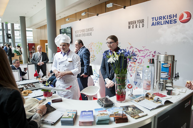 The Turkish Airlines stand at the 2015 Exhibition
