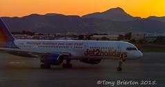 Jet2 Holiday. (Tony Brierton) Tags: sunset plane airport aircraft palma majorca 28615 majporca15