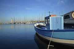 La barque bleue (Michel Seguret Thanks all for 9.400 000 views) Tags: sunset france port puerto boot boat nikon harbour sete coucher pro bateau barque d800 hrault michelseguret