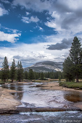 Yosemite - The Lyell Fork Of The Tuolumne River - 5555 (www.karltonhuberphotography.com) Tags: california light summer sky water weather creek river outdoors afternoon cloudy peaceful adventure lazy yosemite backcountry yosemitenationalpark wilderness drama refreshing invigorating soothing rivercrossing therapeutic simplepleasures 2015 wetfeet flowingwater yosemitehighcountry wadding rejuvenating buildingstorm karltonhuber placidflow