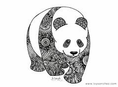 GIANT PANDA (ivysanchez14) Tags: handmade art ink inkart arte artwork artistonflickr panda zentangle zendoodle mandala