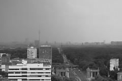 Berlin Tiergarten (elisachris) Tags: berlin tiergarten strasedes17juni siegessäule fernsehturm urban stadt city skyline schwarzweis blackandwhite fujifilm fuji x20