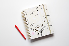 Red pen and notebook on clean white desk (yourbestdigs) Tags: planners workbook book calendar planning organize organization organizing daily planner schedule scheduling tasks journal notebook note punctual time white background clean minimalist 2017 spiral bound desk