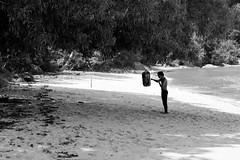 Morning training on the beach / Entrainement matinal sur la plage (benoithamon1) Tags: boxe black white noir et blanc plage beach