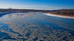 River of Slush (kensparksphoto) Tags: alberta calgary canada micro43 sky bowriver snow december winter