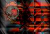 Luna sideral (seguicollar) Tags: luna artedigital arte art artecreativo abstracto abstracción rojo red cuadrados gris negro virginiaseguí