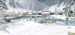 Snowfall at the Port of Bal Harbour (Journey -- Not all who wander are lost.) Tags: snow boats port fishing lam erin journey mclaglen bal harbour
