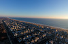 Just after sunrise, a DJI Phantom 4 soars over Manasquan and the Atlantic Ocean. (apardavila) Tags: atlanticocean djiphantom4 jerseyshore manasquan manasquanbeach aerial drone