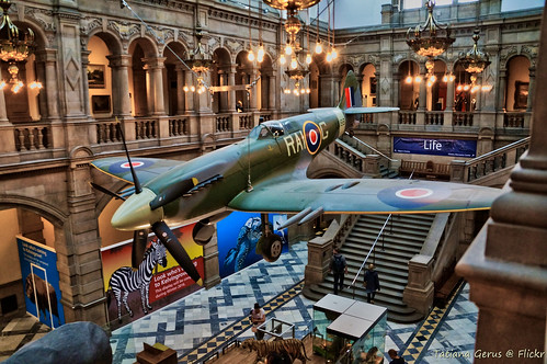 Spitfire Mark 21 on display in Glasgow Kelvingrove museum