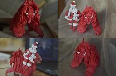 Troll by Nicolas Terry and Santa Claus by Takeda Naoki (Nikita Vasiliev) Tags: origami paper paperart troll nicolasterry santaclaus takedanaoki newyear 2016 fangs rider