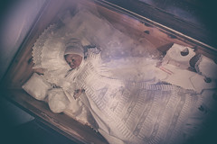 Sleep well babydoll... (simonpe86) Tags: horror puppen europapark doll dolls spooky cradle baby children wiege