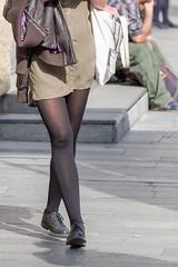 On the streets (captain.gbz) Tags: legs pantyhose woman street nylon sexy stockings