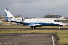 D-CGEP Gulfstream G150 Windrose air Glasgow airport EGPF 03.02-17 (rjonsen) Tags: plane airplane aricraft business jet