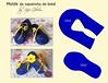Molde de sapato de bebê (Feito a mão [by Rafa]) Tags: feltro fieltro felt rafagibrim sapatinho sapatinhodebebê molde fofo cute enfeite presente lembrança artesanato