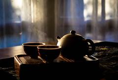 Morning Tea (Robert Borden) Tags: tea teapot teacup steam goodlight bluehour morning light northamerica usa westcoast southwest california socal losangeles la santaclarita canon canonphotography