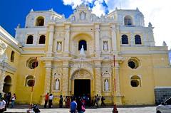 """Route of the Mayas"", Antigua, Guatemala, Monasterio La Merced, Overseas Adventure Tours"", visitors (David McSpadden) Tags: route mayas antigua guatemala monasteriolamerced overseasadventuretours visitors baroquefacade stucco plaster"