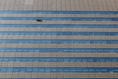 Fresh air? (Elios.k) Tags: horizontal outdoors nopeople building facade abstract minimal architecture modern window open one office kyobo gwanghwamunbuilding highrise businessdistrict shadow lookingup travel travelling august 2016 summer vacation canon 5dmkii camera photography colour color gwanghwamun plaza square jongno seoul korea southkorea asia