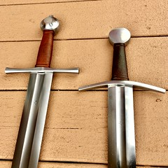 Albion swords side by side (mhallfilms1) Tags: albion knight norman sword conquest armour medieval dark ages vikings normandy england
