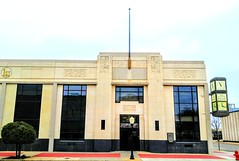 The First National Bank and Trust in Chickasha, Oklahoma (kevinellison62) Tags: firstnationalbankandtrust artdeco architecture building oldbuilding bank chickasha oklahoma clocks clock time