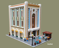 Astrid and Associates Architecture firm (snaillad) Tags: lego moc town city architecture art deco artdeco firm modern 1920s 1930s balcony modular corner
