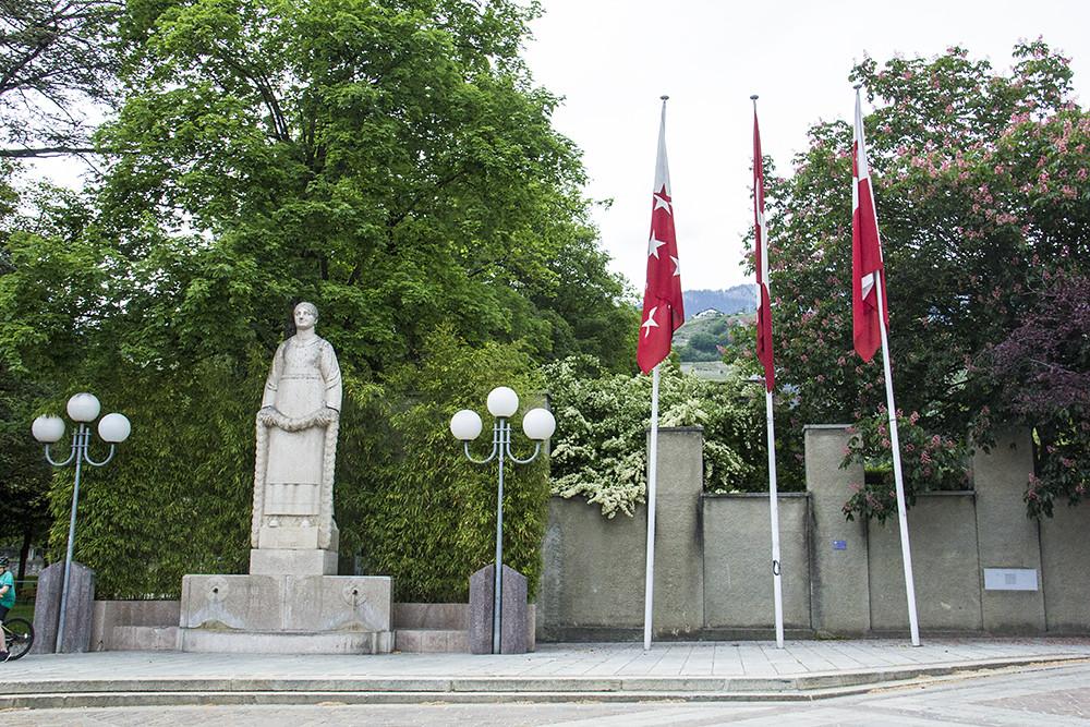 Place de la Planta, onde acontecem os eventos