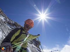 Jean Villard preparing the rope (HendrikMorkel) Tags: mountains alps mountaineering chamonix alpineclimbing arêtedescosmiques arcteryxalpineacademy2015