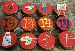 Art cupcakes by Candace, Triad Area, NC, www.birthdaycakes4free.com