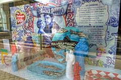 santo antnio de lisboa (valeriadalua) Tags: portugal window festival shop reflections lisboa lisbon santo patronsaint santoantnio festasjuninas saintanthonyoflisbon stoantniodelisboa