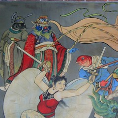 Amazing battle scene,Confucius Temple, Taipei #confuciustemple #Taiwan #Taipei #Asia #art #culture #storytelling #mural #travel #cool #Chinese (Badger 23 / jezevec) Tags: square roc taiwan squareformat formosa  kina  2015  republicofchina  instaart  republikken  tajwan  tchajwan   iloan  iphoneography republikchina thivn  taivna tavan   instagram instagramapp uploaded:by=instagram instataiwan