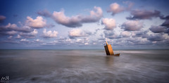 El Grau Vell. Agosto 2015 (MSB.Photography) Tags: longexposure sunset sea beach clouds atardecer mar stones sony playa nubes piedras largaexposición nex7