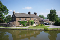 Top Lock Cottage, Marple (Mike Serigrapher) Tags: forest canal cheshire lock top cottage peak marple
