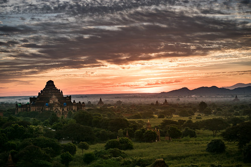 Bagan before sunrise
