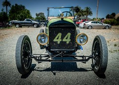 Front View of Racer 44 (Charlie Day DaytimeStudios) Tags: ca california car carshowoldracecars fremont fremontca modeltclub nilesca oldcars