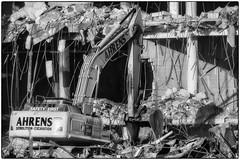 CrestWoodMallDemolition_SAF7461-2 (sara97) Tags: constructionequipment copyright©2016saraannefinke crestwoodmall demolition heavyequipment missouri outdoors photobysaraannefinke saintlouis bw blackandwhite blackwhite