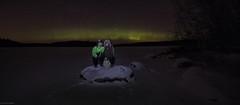 winter night couple (sami kuosmanen) Tags: metsä man mies taivas tree talvi tumma tyttö nature night nainen north europe exposure luonto light landscape long winter woman suomi sky snow lake lumi lightpainting valo valomaalaus photography pitkä valotus revontulet northern lights aurora borealis järvi jää ice kivi rock