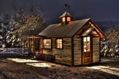 Chicken Coop (1riverat) Tags: 1riverat matthewreichel snow coop night warm chickencoop