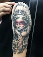 (carlosfarinha) Tags: indian tattoo blackandgreytattoo carlosfarinha tatuagemsombreada realista