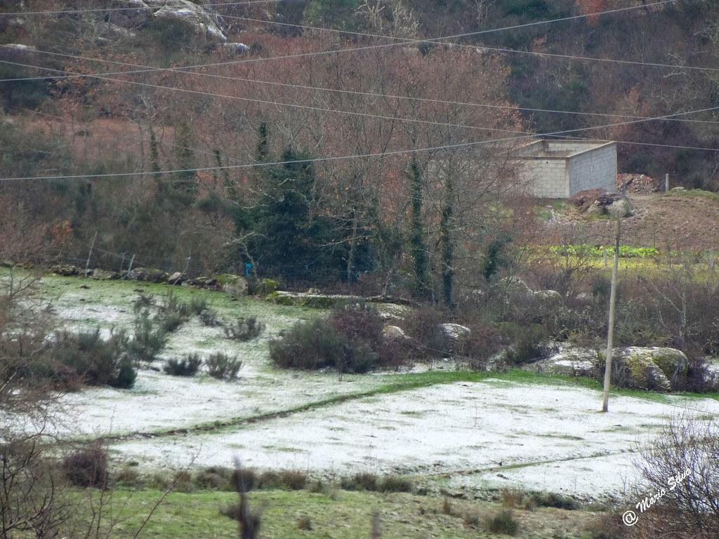 Águas frias (Chaves) - ...os campos cobrem-se de branco ...