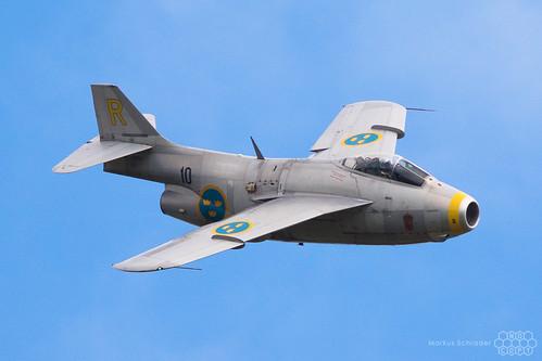 Saab J 29F Tunnan SE-DXB Swedish Airforce Historic Flight