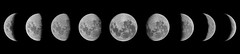 Moon Phases (RobMacPhotography) Tags: canberra act australia panorama phases moon luna full quarter waxing waning photoshop rob mac photography sony a6000 night astrophotography backyard