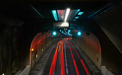 Tunnel of love (PentlandPirate of the North) Tags: a55 expressway northwales tunnel penmaenmawr light trails streaks road traffic