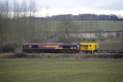 DBS 66155 at North Anston (parkgateparker) Tags: syjnt southyorkshirejoint northanston 66155