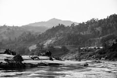 Cigarette (DEARTH !) Tags: mekong laos southeastasia lao dearth blackandwhite slowboat mekongriver travel sainyabuliprovince la