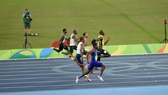 100m men's semi-final, Rio 2016 (gregmartinn) Tags: brazil brasil riodejaneiro rio rio2016 olympics track trackandfield running 100m run usainbolt stadium sports athletics travel