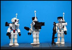 Bone Patrol (Karf Oohlu) Tags: lego moc skeleton modifiedminifig trooper patrol backpack