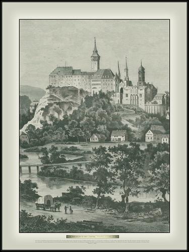 s317 Heft 14 5449 Buch Das fürstlich hohenzollern'sche Schloß in Sigmaringen Originalzeichnung von Robert Friedrich Stieler