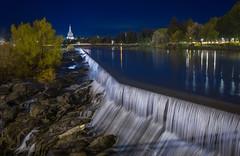 Idaho Falls & Blue Hour (Luís Henrique Boucault) Tags: america fall idaho idahofalls lights longexposure night roadtrip travel unitedstatesofamerica usa vacation water absolutelystunningscapes