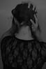 12/365 (Ell@neese) Tags: manipulation switch portrait woman body idea creative blackandwhite bw dress black style
